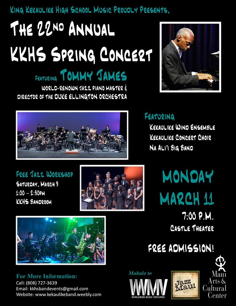 22nd Annual King Kekaulike High School Spring Concert