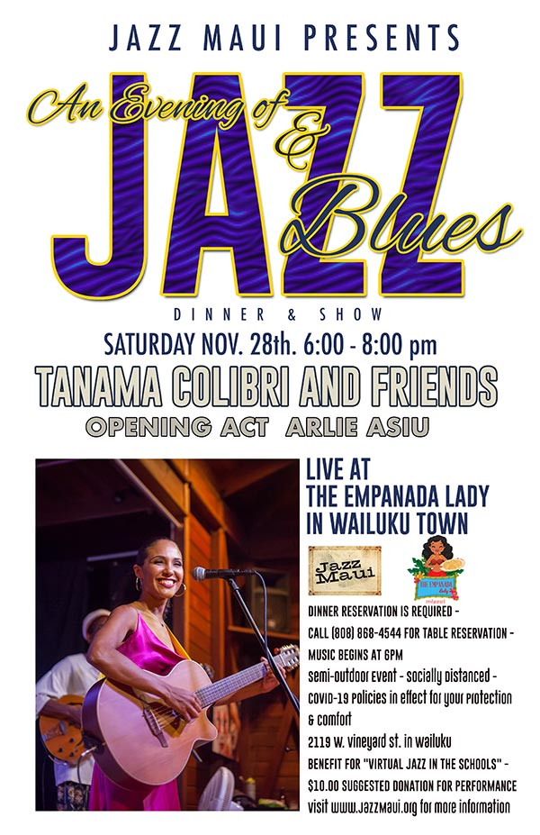 An Evening of Jazz & Blues with Tanama Colibri
