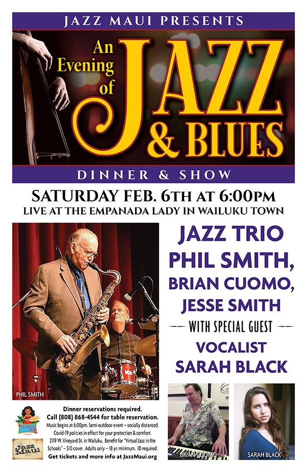 An Evening of Jazz & Blues with Jazz Trio Phil Smith