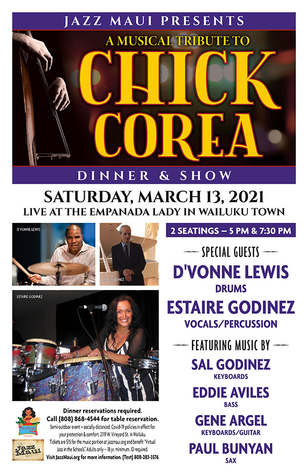 Jazz Maui Presents: A Musical Tribute to Chick Corea