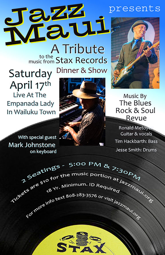 Jazz Maui Presents: A Tribute to the music from Stax Records Dinner & Show