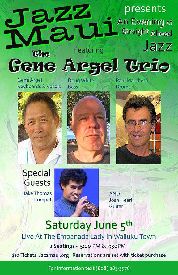 Jazz Maui Presents: Straight Ahead Jazz featuring the Gene Argel Trio