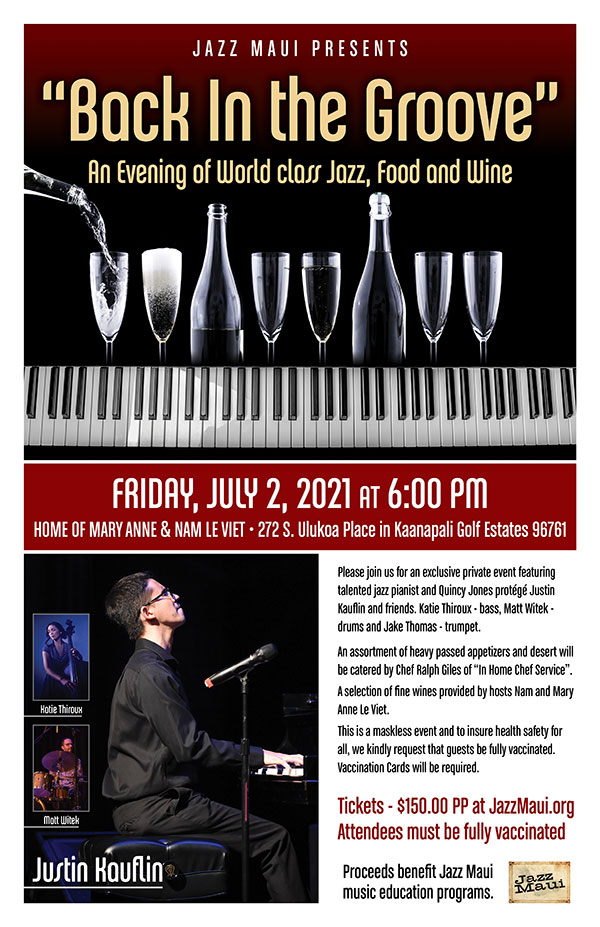 """Jazz Maui presents """"Back in the Groove"""""""