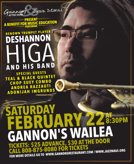 Deshannon Higa & Special Guests to Perform in Support of Music Education on Maui